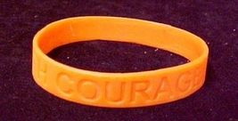 Orange Awareness Bracelets Lot of 12 Piece Silicone Wristband Cancer Cause New image 2
