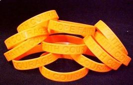 Orange Awareness Bracelets Lot of 12 Piece Silicone Wristband Cancer Cause New image 3