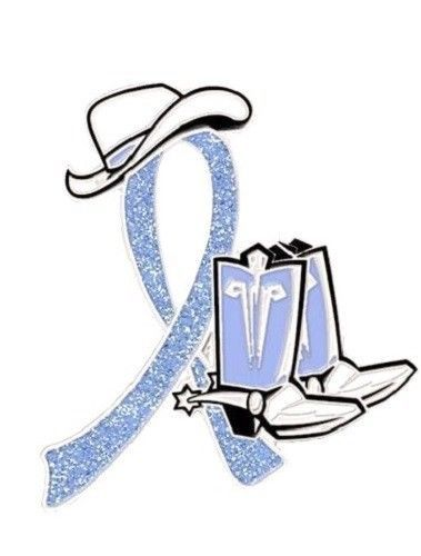 Primary image for Periwinkle Awareness Ribbon Pin Cancer Cause Sparkling Cowboy Western Boots Hat