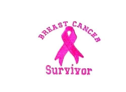 Pink Ribbon Survivor T Shirt Breast Cancer Awareness White Short Sleeve L New