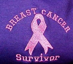 Pink Ribbon Survivor T Shirt Breast Cancer Awareness Purple Short Sleeve L New image 4