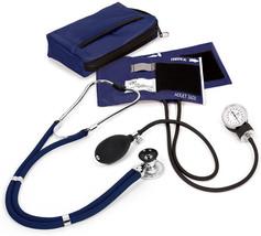 Prestige Medical Sprague Stethoscope BP Cuff Combo Kit Navy Blue Case NIB - $48.97