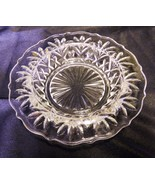 Pressed Glass Clear Round Candle Holder Nut Candy Tidbit Dish Decorative... - $17.61