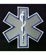 Reflective Star of Life Emblem Patch 4 Inch EMT EMS Embroidered Sew on A... - $9.77