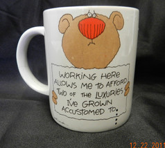 Russ Understatements Working Allows Me Luxuries Eating Living Indoors Mug Cup - $19.57