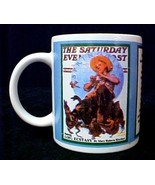 Saturday Evening Post Beginning Lost Ecstasy Rinchart Coffee Mug Norman ... - $12.71