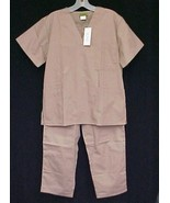 Scrub Set 2 Pc #156 Caramel Tan V 3 Pocket & Pants XS New - $12.84