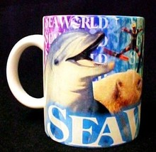 Seaworld Collector Mug Dolphin Shamu Whale Pottery Cup Sea World Ceramic - $19.57