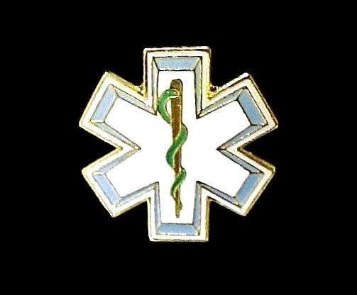 Star Of Life Lapel Pin Badge Cap Tack EMT EMS Medical Rescue New