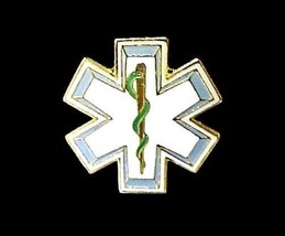 Star Of Life Lapel Pin Badge Cap Tack EMT EMS Medical Rescue New - $6.76