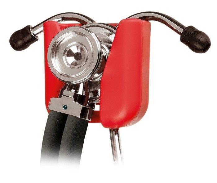 Stethoscope Hip Clip Holder Red EMT Nurse Belt Clip NIB