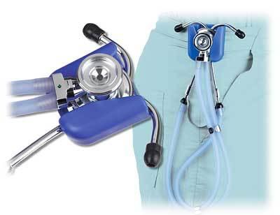 Stethoscope Hip Clip Holder Red EMT Nurse Belt Clip NIB image 5