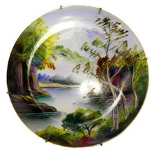 UCAGCO Hand Painted Mountain Lake Landscape Collector Plate Japan Vintage - $24.47