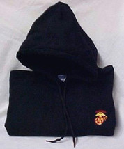 US Marines Marine Corp Military Red Gold Navy Hooded Sweatshirt Unisex S New - $28.68