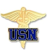 USN Caduceus Military Medical Medic United States Navy Lapel Pin Tac New - $16.46