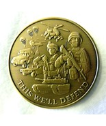 US Army Military This We'll Defend Medallion Antique Bronze Challenge Coin - $24.22