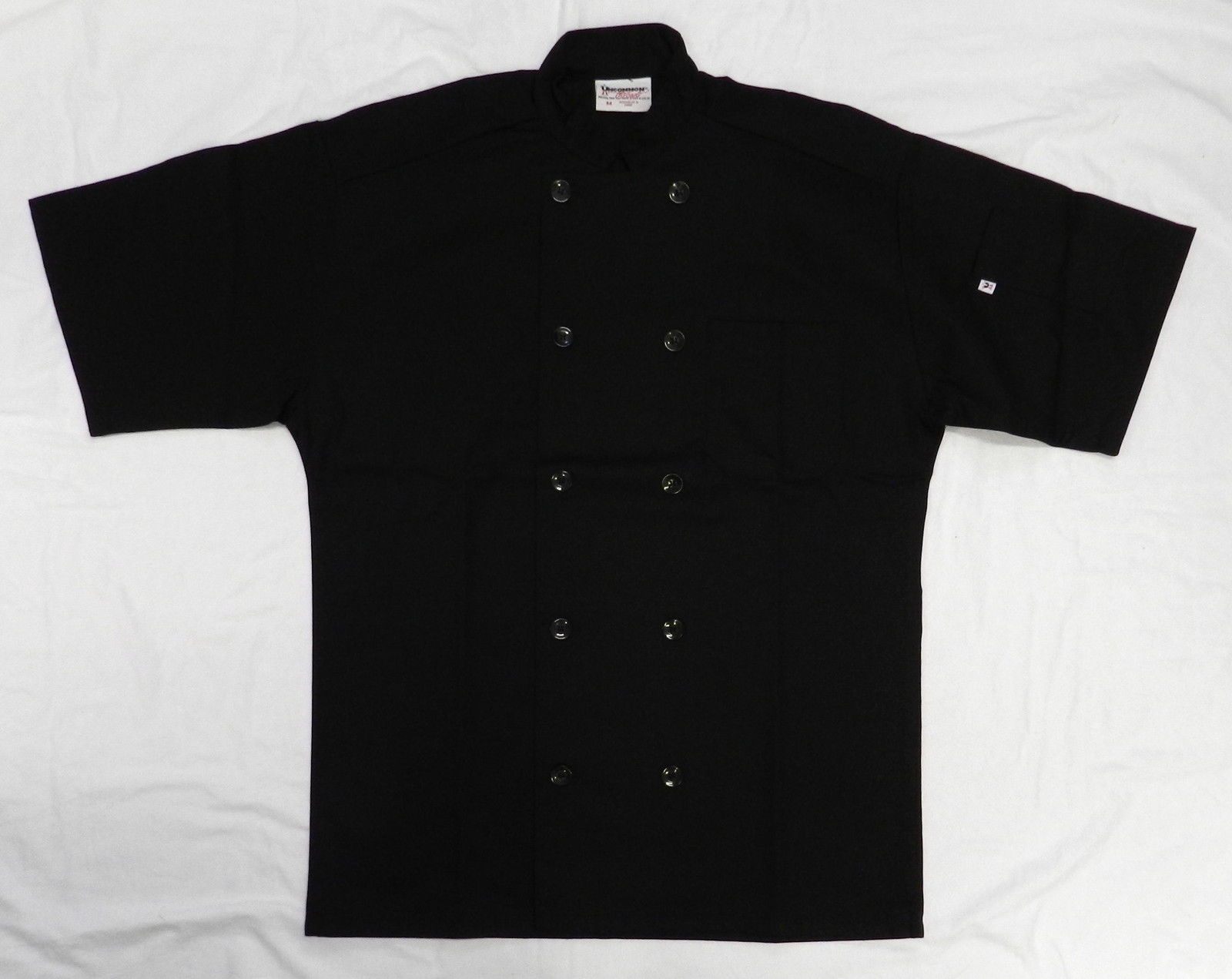 Primary image for Uncommon Threads 415 Restaurant Uniform S/S Chef Coat Jacket Black M New