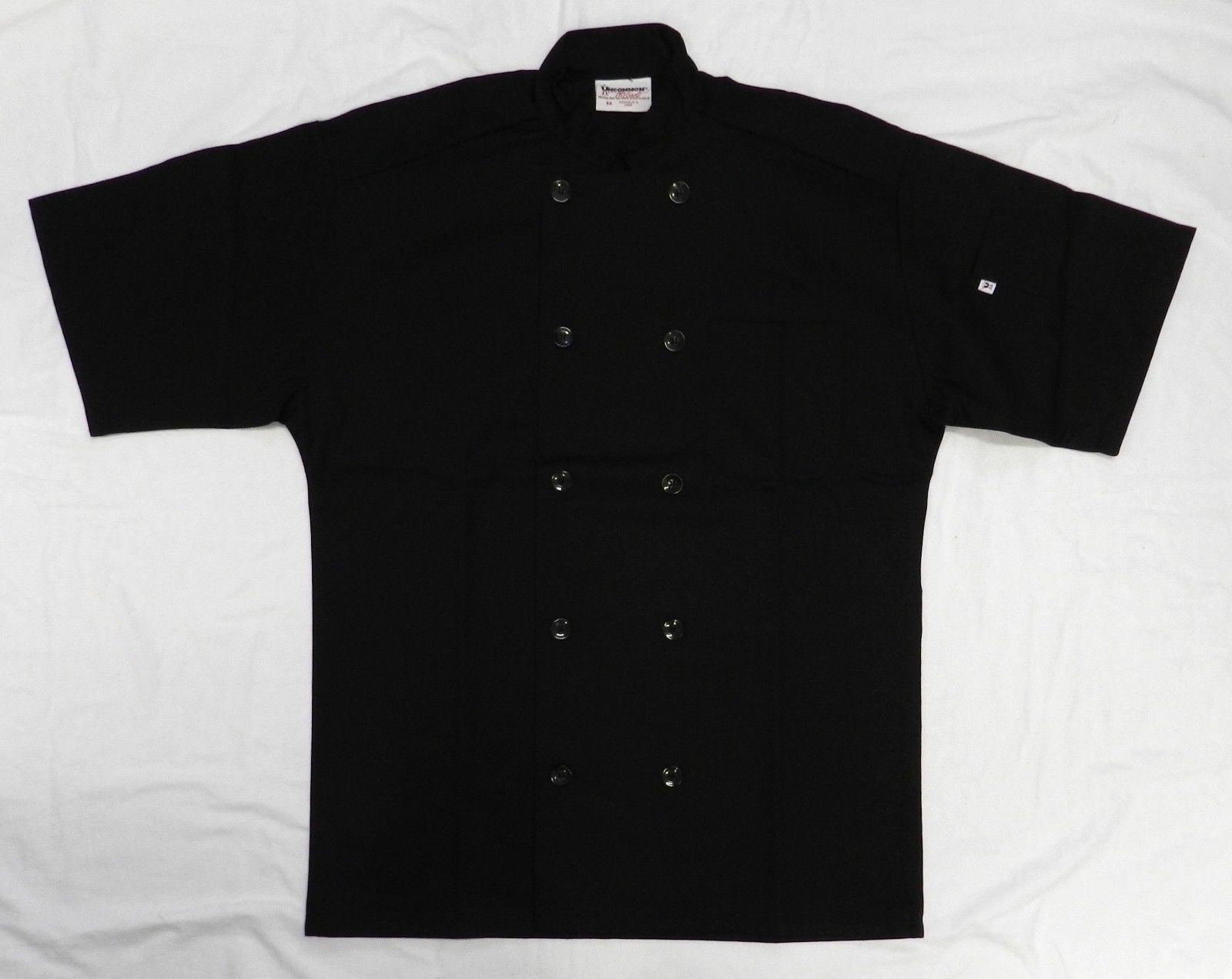 Uncommon Threads 415 Restaurant Uniform S/S Chef Coat Jacket Black 2XL New