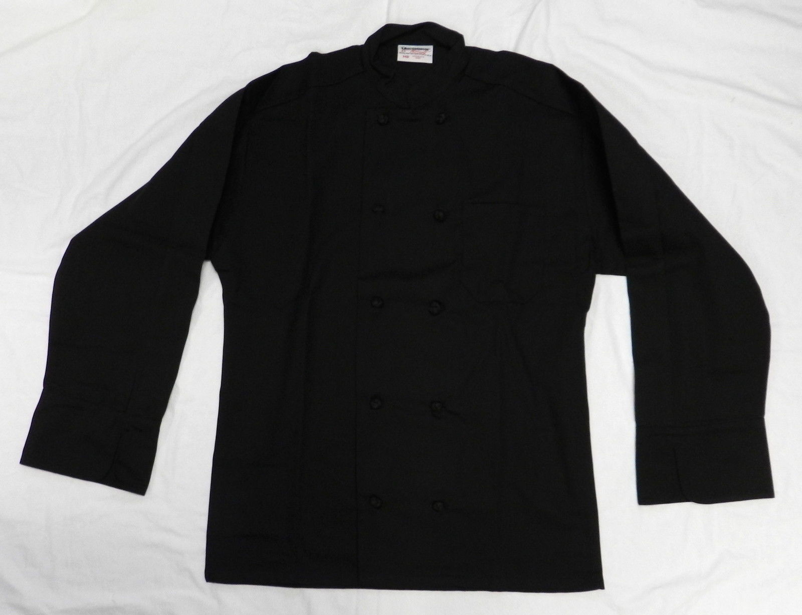 Primary image for Uncommon Threads 403 Cloth Knot Button Uniform Chef Coat Jacket Black 2XL New