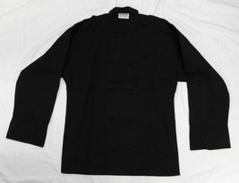 Uncommon Threads 403 Cloth Knot Button Uniform Chef Coat Jacket Black 2X... - $29.67