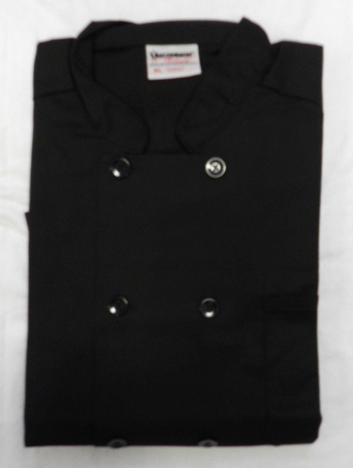 Uncommon Threads 402 Restaurant Uniform Chef Coat Jacket Black XL New