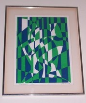 SIGNED & NUMBERED HORNICK ABSTRACT ART LITHO NYC PRINT - $220.28
