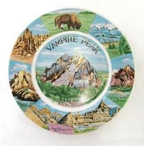 Vampire Peak Monument Badlands South Dakota Souvenir Plate Japan Vintage - $26.43