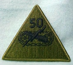 "Vintage 50th Armored Division Subdued Embroidered 4"" Patch New - $4.82"