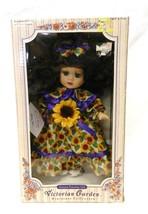 Victorian Garden Miniature Collection Sunflower Melissa Jane Porcelain Doll - $24.47
