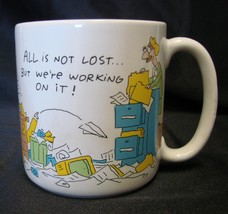 Vintage American Greetings Office All Not Lost We're Working On It Mug Cup - $19.57