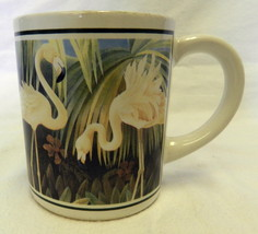 Vintage Applause Pink Flamingo Mug Tropical Paradise Palm Tree Coffee Cup - $19.57