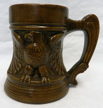 Vintage Brown Studio Art Handcrafted USA America Eagle Mug Stein Judge 1969 - $34.27