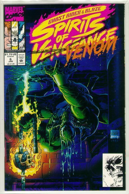 SPIRITS of VENGEANCE #6 (Ghost Rider & Blaze) NM!