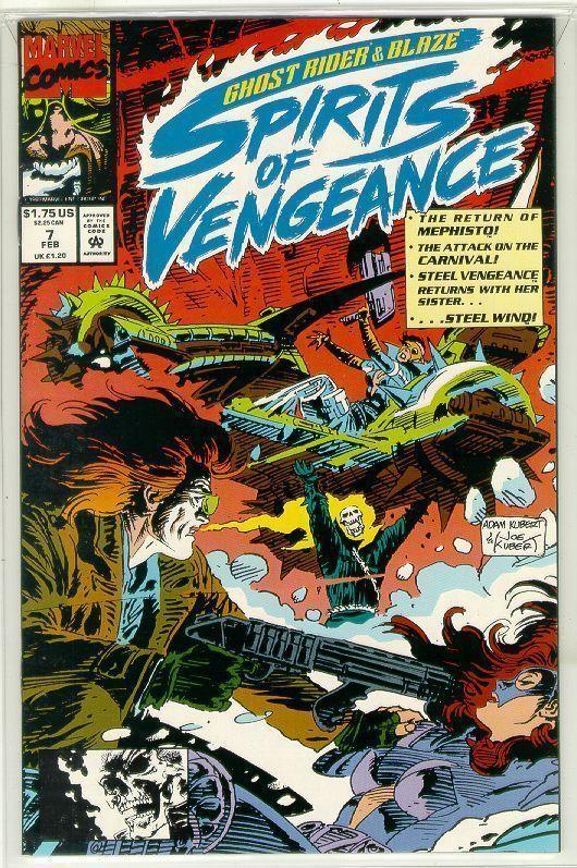 SPIRITS of VENGEANCE #7 (Ghost Rider & Blaze) NM!