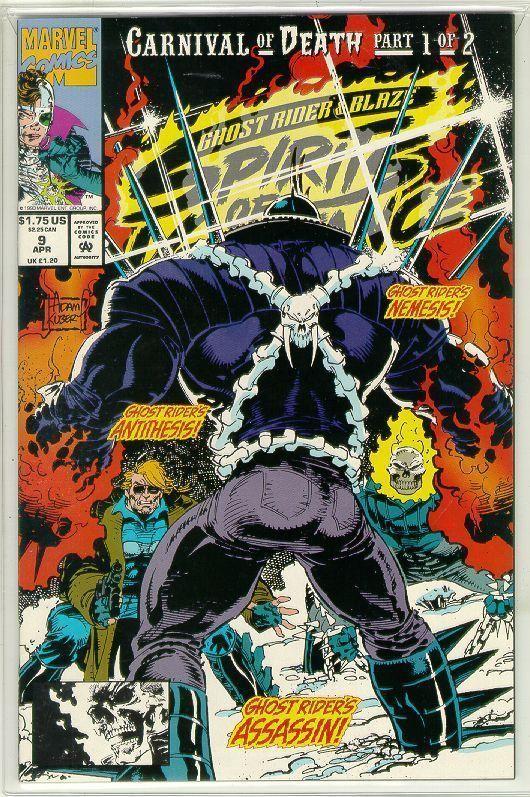 SPIRITS of VENGEANCE #9 (Ghost Rider & Blaze) NM!
