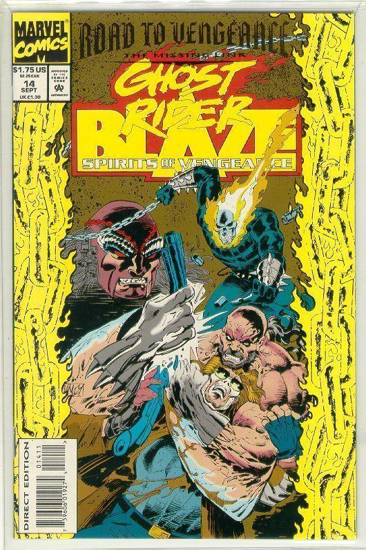 SPIRITS of VENGEANCE #14 (Ghost Rider & Blaze) NM!
