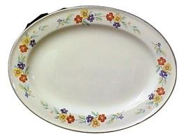 Vintage Knowles China Large Oval Serving Platter USA I - $38.77