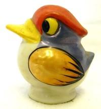 Vintage Rare Lusterware Blue Orange Duck Bird Salt Pepper Shaker Japan - $39.17