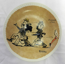 Vintage Newall Pottery Norman Rockwell On Tour Promenade a Paris Collect... - $32.61