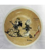 Vintage Newall Pottery Norman Rockwell On Tour Promenade a Paris Collector Plate - $32.61