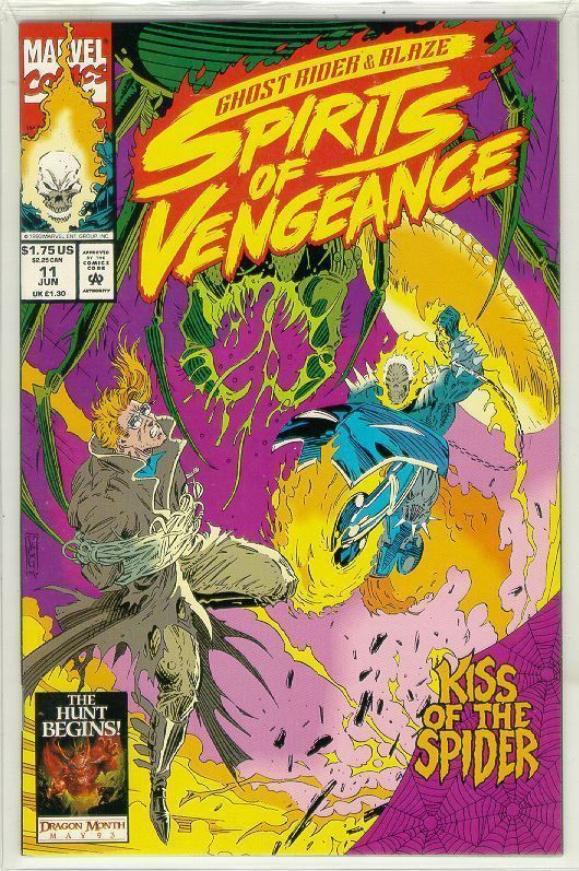 SPIRITS of VENGEANCE #11 (Ghost Rider & Blaze) NM!