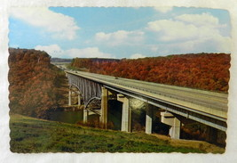 Vintage Uncirculated Interstate 80 Clarion River Bridge Souvenir Postcar... - $21.12