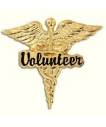 Volunteer Caduceus Wings Lapel Pin Medical Hospital Recognition Volunteers New - $13.55