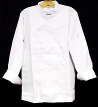 White Chef Coat CIA Culinary Institute America Double Breasted 4X New St... - $39.57