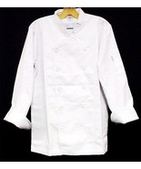 White Chef Coat CIA Culinary Institute America Double Breasted 6X New St... - $39.17