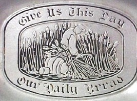 Wilton PA Pewter US Daily Bread Tray Wheat RWP Armetale Matte Finish USA - $22.28