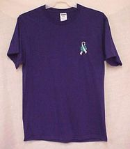 World Pale Gray Ribbon Brain Cancer Diabetes Purple S/S T Shirt L 50/50 New image 4