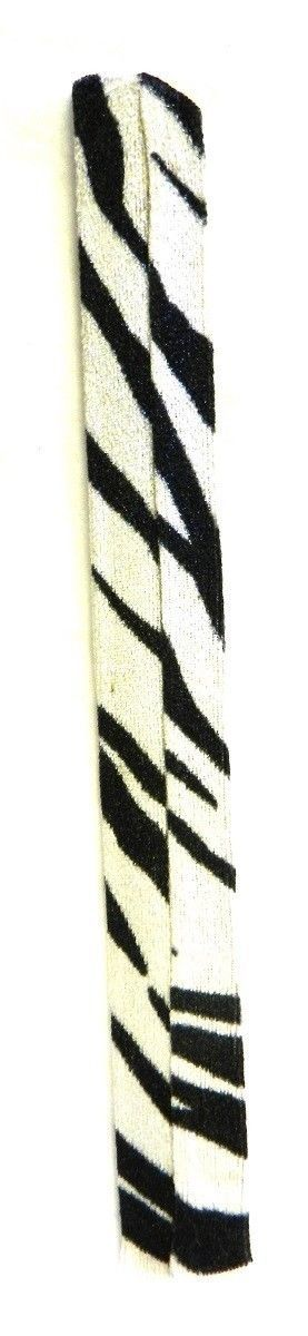 Zebra Print Slap Bracelet Costume Fashion Animal Snap Strap Roll Up Cloth