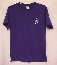 World Pale Gray Ribbon Brain Cancer Diabetes Purple S/S T Shirt 4X 50/50 New image 4