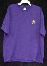 World Ribbon Leukemia MS Lupus Melanoma Kidney Cancer Purple S/S T Shirt M New image 4